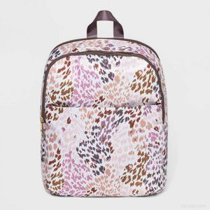 Leopard Print Zip Closure Dome Backpack A New Day